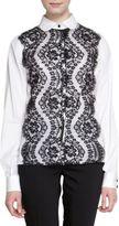 Dolce & Gabbana Floral Lace Front Blouse