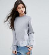 Kubban Petite Ruffle Detail Sweatshirt
