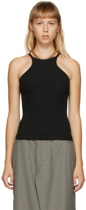Dion Lee Black Chain Necklace Tank Top