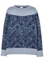 Vivienne Westwood Blue Textured-knit Wool Jumper