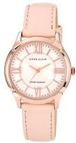 Anne Klein Roman Numeral Leather Watch, 35mm