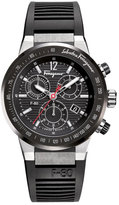 Salvatore Ferragamo Rubber-Strap Chronograph Watch, Black