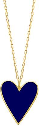 GABIRIELLE JEWELRY Love & Protection 14K Gold Vermeil Heart Pendant Necklace