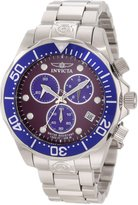 Invicta Men's Pro Diver Chronograph Dark Purple Dial Stainless Steel