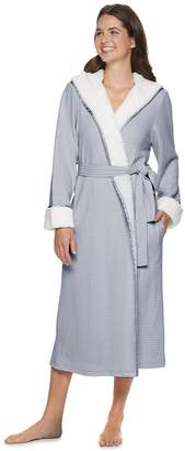 Sonoma Goods For Life Women's SONOMA Goods for Life Sherpa-Trimmed Waffle Robe