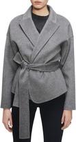 Anine Bing Luna Tie Waist Wool Blend Jacket