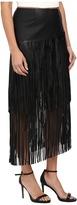 Kensie Soft Pleather Fringe Skirt KS9K6173