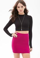 Forever 21 FOREVER 21+ Stretch-Knit Mini Skirt