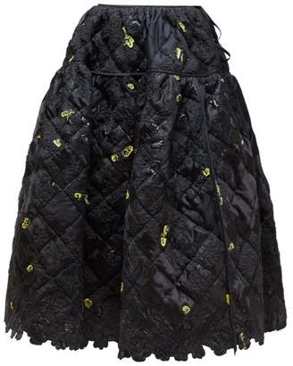 Cecilie Bahnsen - Rosie Quilted Patchwork Skirt - Womens - Black Yellow