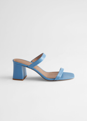 And other stories Duo Strap Leather Heeled Sandals