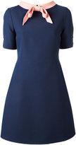 Gucci bow collar short sleeved dress - women - Silk/Acetate/Wool - 46