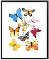 Pottery Barn Kids Watercolor butterflies Wall Art by Minted(R) 11x14