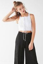 Urban Outfitters High-Neck Lace-Up Tank Top