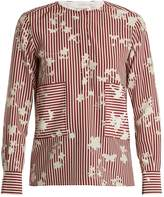 Altuzarra Carnegie patch-pocket silk top