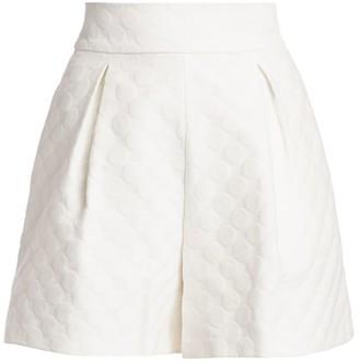 ML Monique Lhuillier Dot Darted Shorts