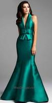 Mac Duggal Wide Pleated Bow Evening Dress