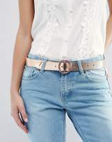 Asos Tipped End Circle Buckle Jeans Belt