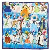 Christian Lacroix Women's Les Filles En Fleur Square Silk Scarf