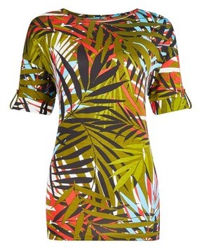 Dorothy Perkins Womens Tall Khaki Palm Print Utility T
