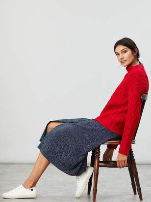 Joules Jamie Cable Knit Jumper - Red