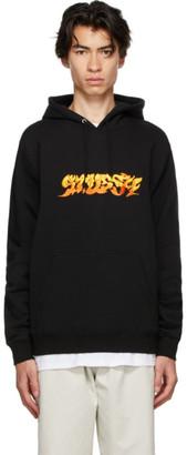 Stussy Black Fire Hoodie