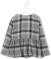 Il Gufo peplum check blouse - kids - Viscose/Virgin Wool - 5 yrs