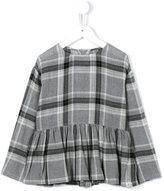 Il Gufo peplum check blouse
