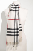 Giant Check Fringed Cashmere Muffler