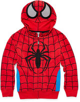 Spiderman Novelty T-Shirts Zip-Front Hoodie - Preschool Boys 4-7