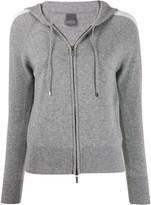 Lorena Antoniazzi side stripe hooded jacket