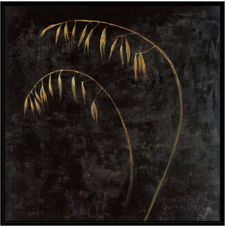 Jonathan Bass Studio Blades Of Gold 1, Decorative Framed Hand Embellished Canvas
