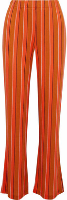 Simon Miller Cyrene Striped Cotton-blend Wide-leg Pants
