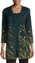 Misook Floral Embroidered Jacket