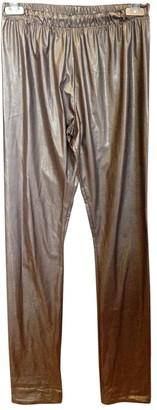 Veronique Branquinho Brown Synthetic Trousers