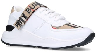 Burberry Leather Vintage Check Strap Sneakers