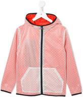 Armani Junior logo zipped hooded jacket