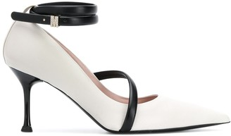 MSGM Pointed-Toe Strappy Pumps