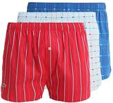 Lacoste 3 Pack Boxer Shorts Blue/red/light Blue