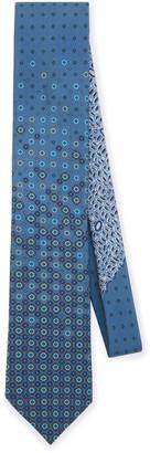 Prada Medallion-Print Silk Tie