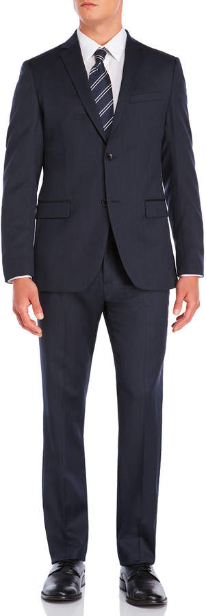 Theory Navy Wool Suit Jacket