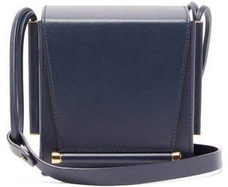 Roksanda Box Leather Cross-body Bag - Womens - Blue