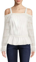 Ramy Brook Lace Cold-Shoulder Top
