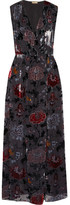 ADAM by Adam Lippes Wrap-effect Floral-print Devoré-chiffon Maxi Dress - Black
