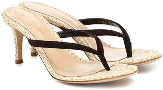 Gianvito Rossi Exclusive to Mytheresa Calypso 70 raffia thong sandals