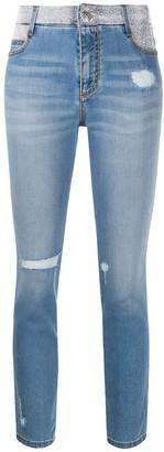 Ermanno Scervino rhinestone-embellished mid-rise skinny jeans