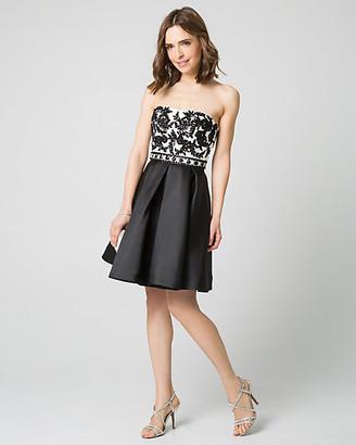 Le Château Embellished Lace & Satin Party Dress