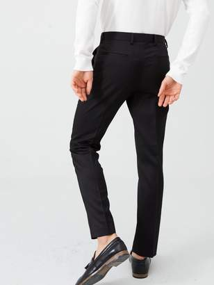 River Island Black Skinny Fit Tux Suit Trousers