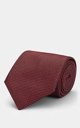 Brioni Men's Neat Silk Necktie - Red