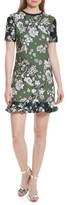 Ted Baker Women's Hoster Floral Print Ruffle Hem Dress