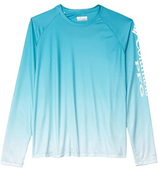 Columbia Super Tidal Tee Long Sleeve Shirt (Red Lily Gradient) Women's Long Sleeve Pullover